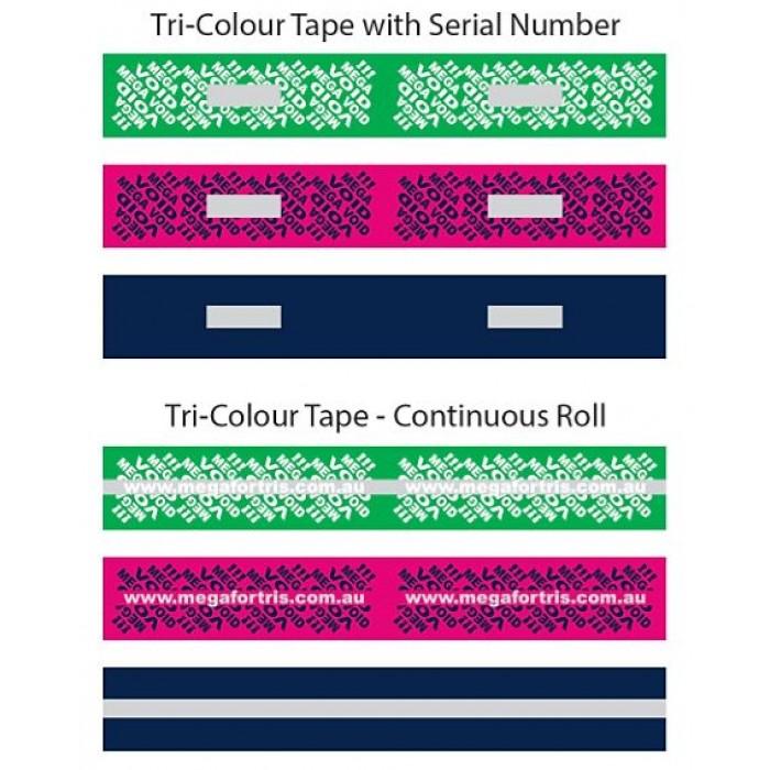 Tri-Colour Tamper Evident Tape (Continuous)