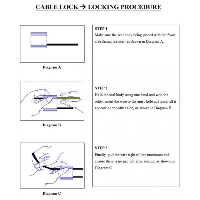 Cable Lock 500 x 25cm