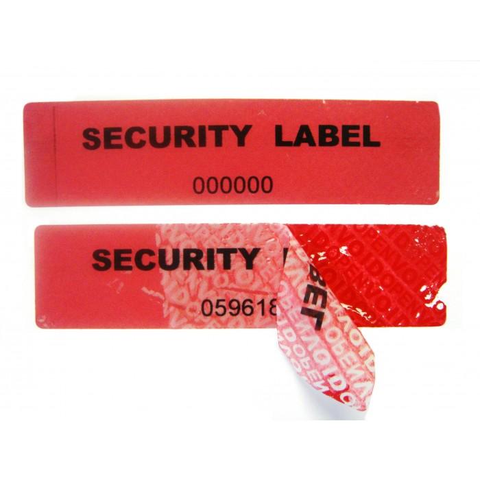 Tamper Evident Labels PT (Partial Transfer)